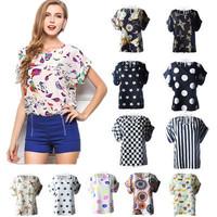 Blusas Femininas 2015 New Women Chiffon Blouse Casual Short Sleeve O-neck Shirt Plus Size Blusas Femininas roupas femininas
