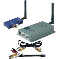 New arrival !!! 2.4G 1000mW FPV Wireless AV Audio Video Tranmsitter +Further Receiver Set 12 Channel High Quality