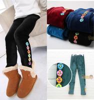 Fashion New Kids Girls Winter villi wool pants, Children's girl Tight pants ,5 colors warm trousers