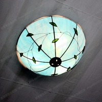 12 inch blue moon ceiling lamps Tiffany bedroom balcony children room with modern minimalist sky blue glass lamp