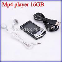 portable mp4 player 100pcs-- hot Christmas gift music audio digital player mp3 mp4 radio video player black diamond 16gb memory