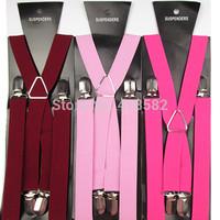BD002-- Min.50pcs Cheap Price Wholesale free shipping High quality 4 clips X-back Men's suspenders 2.5 cm elastic braces