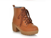Free shipping 2014 new Fall boots Thick with Martin boots British female boots for women
