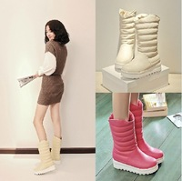 Free Shipping 2014 HOT SALE big size 34-43 winter snow boots women flat heel Warm snow boots thick crust