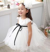 Girls wedding dresses for kids chilren ball gown female child clothing girl princess dress white girls dresses size 90-150cm