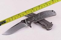 8''New Design Ball Bearing System D2 Stonewash Blade Full Ti Folding Knife Tactical hunting camping knife knivesTFF143