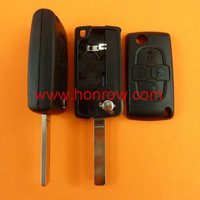 Free shipping-Peugeot 4 button remote key blank with 307 blade  ( VA2 Blade -4 Button- With battery place )