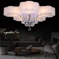 free shipping modern led chandelier 220V-240V W75cm*H35cm 5 light 3 color change via remote controller