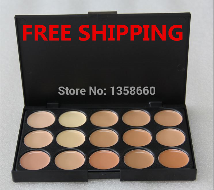 hot 2 Color choose ! 15 colors Concealer Neutral Palette 15 color makeup tools scar cream Face concealer Camouflage Makeup brand(China (Mainland))