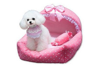 Super Soft British Style Pet House Luxury Princess Dog Bed  Dog Room Cat Bed 43cm*32cm*20cm