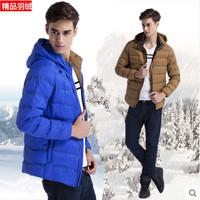 Teenage 2014 winter male down coat thin autumn and winter outerwear male down coat