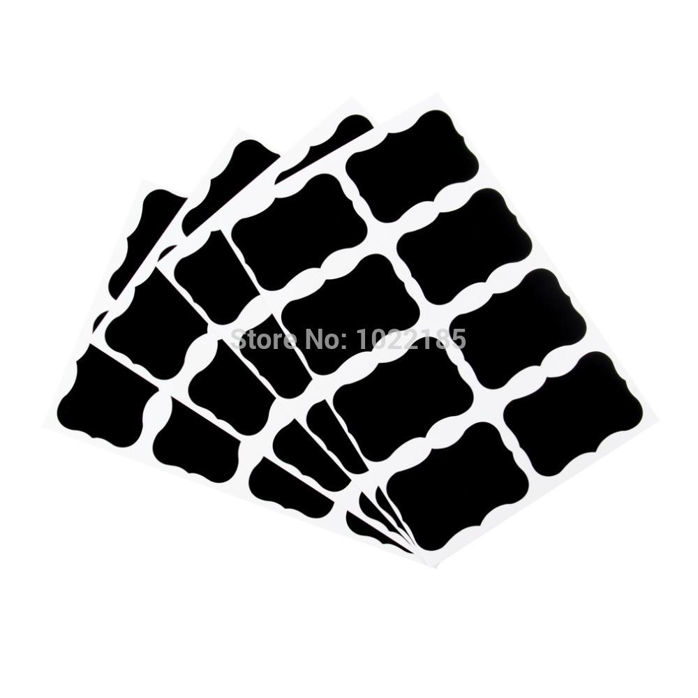 36pcs Chalkboard Blackboard Chalk Board Stickers Craft Kitchen Jar Labels wholesale sale(China (Mainland))