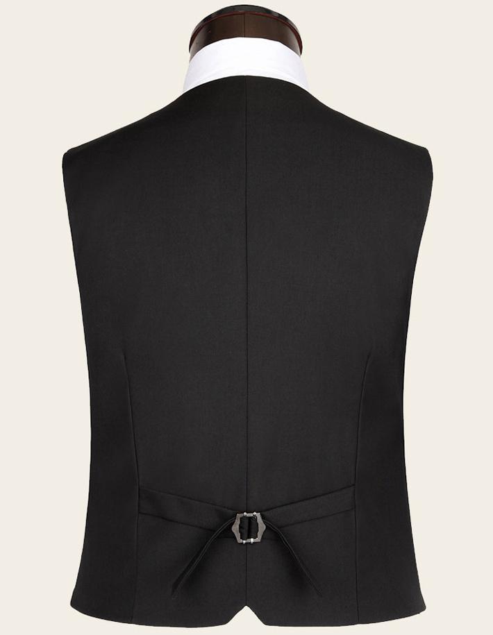Бизнес чистый цвет британский стиль приталенный мужчины в костюм жилет 3 цвета mwb077