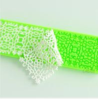 100pcs/lot Free shipping Fashion lace chocolate fondant cake decoration silicone mold kitchen tools