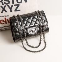 Fashion black 2014 cross-body small chain plaid small bags shoulder bag cross-body women's handbag
