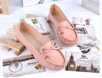 Spring 2015 new women shoes PU women flat shoes Peas butterfly clip size 35-40shoes woman shoes free shipping