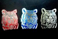 Tiger Aluminum Badge Emblem Decal Sticker, free shipping global