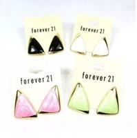 2015 Fashion oil decorative pattern triangle Irregular Square drop earring for women   E-058