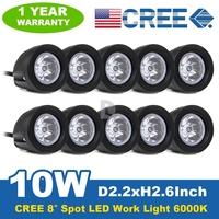 10* 10W CREE Spot Beam LED Light Bar Offroad Driving LED Work Light Bar Driving Lamp For Car Boat Truck SUV Light P0018472