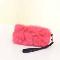 Wallets zipper wallets fashion standard walletsThe new winter fur plush handbags Miss Han Ban clutch bag mini purse phone packag