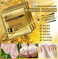 Factory price 1000Pair/lot 24K Gold Revitalizing Exfoliating Softening Feet mask Removes Cuticles callus Dead cells foot care