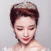 Free Shipping 2014 Hot flower clear crystal tiara rhinestone crown Wedding jewelry bridal hair accessories XB27