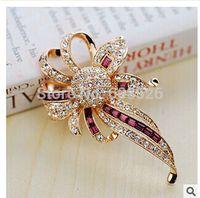 1 Piece Bridesmaid Jewelry Bouquet Bridal wedding Rhinestone Crystal Flower Brooch Pin Costume Jewelry, Item no.: JPB003