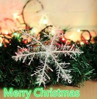 30pcs Ornaments Christmas Tree Decorations Home Festival Decor Beautiful White Snowflake  Drop Shipping