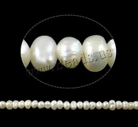 Jewelry Potato Cultured Freshwater Pearl Beads natural white A Grade 2.5-3mm Hole:Approx 0.8mm Sold Per Approx 15 Inch Strand