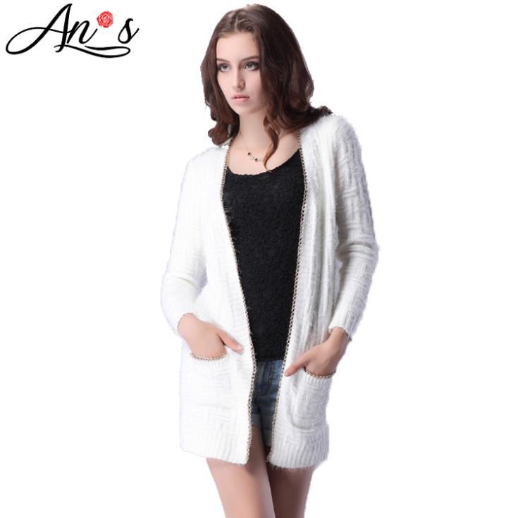 Women-Cardigan-Sweater-White-Orange-2015-Autumn-Spring ...