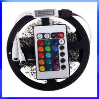 RGB LED Strip 5M 300Led 3528 SMD + 24Key IR Remote Controller Flexible Led Light 12V Ribbon Home Decoration Lamps Free Shipping
