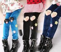 Fashion New Kids girls tight pants, Children's Girl Winter villi wool trousers ,3 colors warm Pants