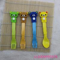 Wholesale 10 pcs Cartoon fork,Cartoon spoo.Cartoon bearfork !!!  Free shipping