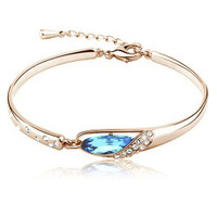 Free Shipping new arrival crystal shoes bracelet,woman fashion Austria crystal bangle wholesale price e06