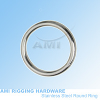 8mm*50mm(id) round ring welded stainless steel 316 wholesale, boat hardware rigging hardware