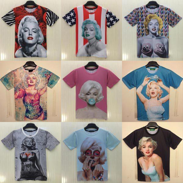 Женская футболка 1991new mikeal] 2015 /3d Rihanna 3d T Sexy Monroe женская футболка 2015 harajuku t 3d rihanna t 3d print
