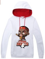 Autumn and winter sweater male basketball sports teenager Jamese Korean long-sleeved cotton hooded jacket