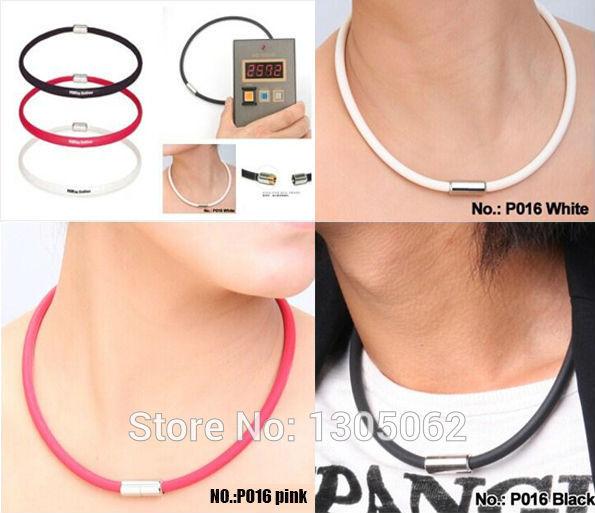 P016:Titanium Ionic Energy balance necklaces power health necklace tourmaline necklet free shipping(China (Mainland))