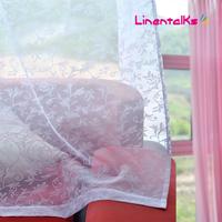fashion high quality window screening transparent curtain yarn white balcony cloth finished product rustic door curtain yarn