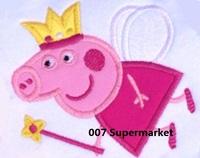 Peppa pig Birthday Crown Fairy Cartoon Kids Iron On Patch applique Children Kids DIY gift card decor Customized Order Welcome