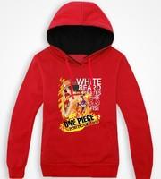 Winter Men Piece Luffy cartoon men's casual sweater hedging plus velvet warm coat tide