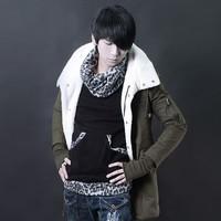 F121 p125 influx of men 2014 winter new Korean version of the warm lamb's wool coat Slim tide personality inside