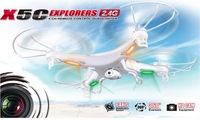Free Shipping Syma X5C Explorers Quadcopter Drone 2.4G 4CH RC Mode 2 Syma X5HD Without Camera LCD RTF