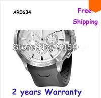New AR0634 0634 Quartz Men's Watch high Quality Rubber Strap Gents Wristwatch + Original Box