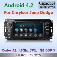 Pure Android 4.2 WiFi 3G Car DVD GPS Stereo For Chrysler Aspen 300C Jeep Cherokee Dodge Avenger DVB ISDB TV OBD Mirror link DVR