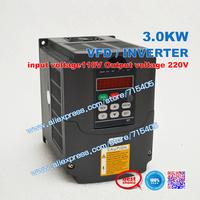 Transformer VFD 110V to 220V VFD 3KW 110V VFD  input voltage110V Output voltage 220V  Variable Frequency Drive VFD Inverter 3KW