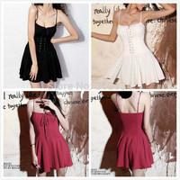1pc High Quality New Sexy Women dress Summer Casual dress Sleeveless Party dresses Cocktail Short Mini Dress