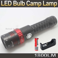 Multifunction LED Zoomable Flashlight LED Bulb Camp Lamp night Light With Super Magnet attracte iron fixation+Battery/Charger