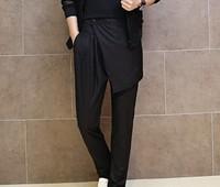 2014 new casual pants tide male Korean fashion personality harem pants hanging low crotch pants pants tide K60 P85