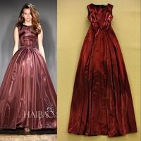 High Quality New Fashion Dress 2015 Spring Summer Women Sexy Shine Silk A-Line Maxi Dress Special Occasion Long Evening Dress